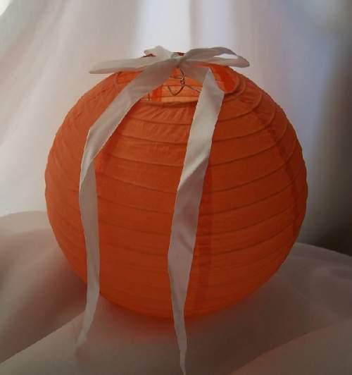 lampion, szalag nélkül - narancssárga