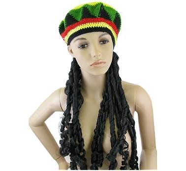Jamaikai - raszta paróka sapkával
