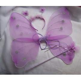 Tündér / Csingiling vagy pillangó szett - 3 részes (fehér vagy lila)