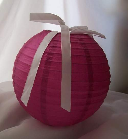 lampion, szalag nélkül - pink