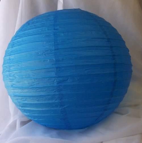 lampion gömb - szalag nélkül, kék