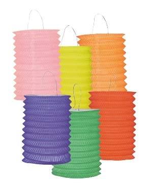lampion - egyszínű, henger