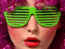 Fesztivál / party szemüveg - zöld