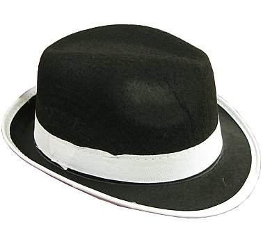 gyerek méretű gengszter kalap - fekete