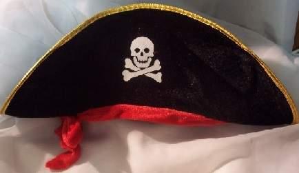 kalóz kapitány kalap - gyerek méretű