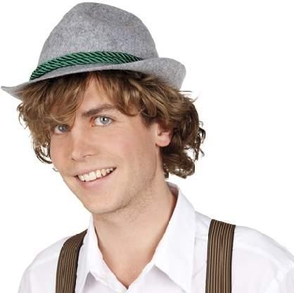 Tiroli / bajor kalap - zöld zsinórral
