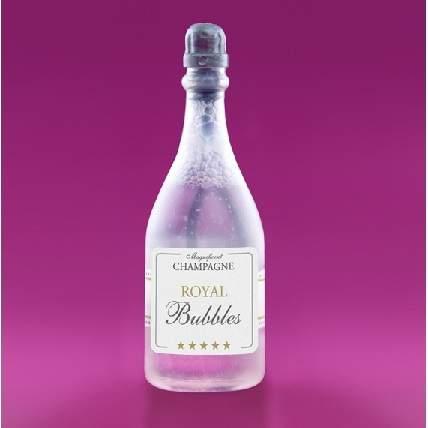 esküvői buborékfújó - pezsgősüveg formájú