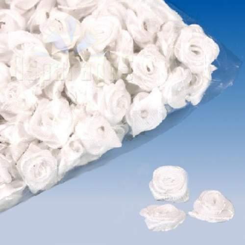 szatén rózsafej - fehér 1,2 cm