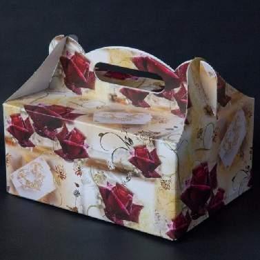 sütis doboz - bordó rózsás