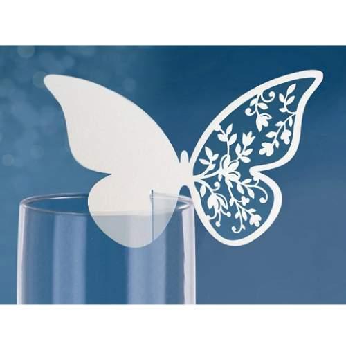 ültetőkártya - csipkés szárnyú pillangó(10 db)