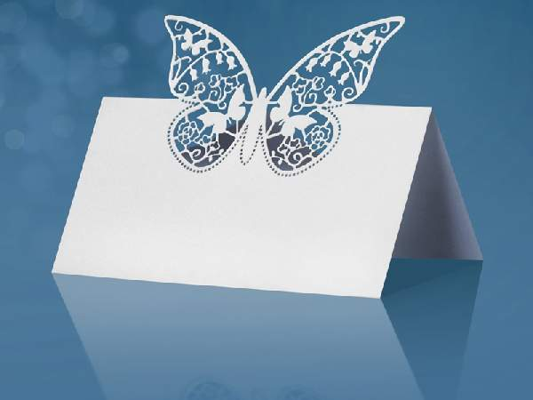 ültetőkártya - pillangóval (10 db)