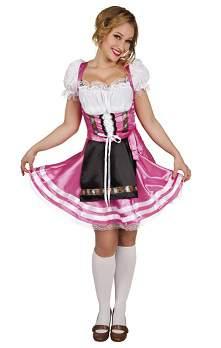 Tiroli / bajor női ruha - rózsaszín