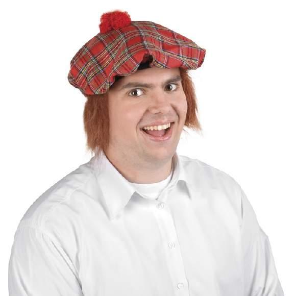 Skót sapka, vörös hajjal