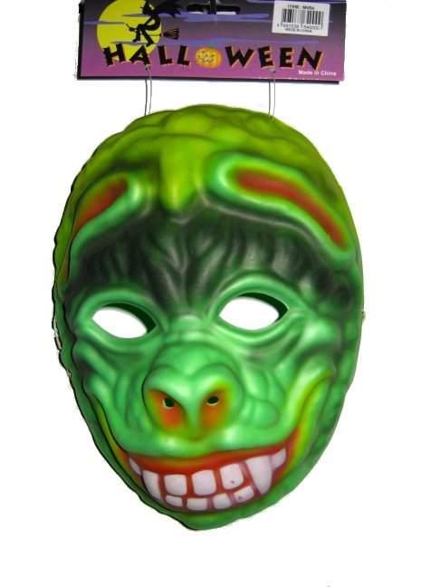 zöld szörny álarc (hab)