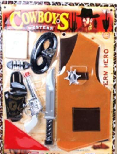 cowboy szett - 4/6 éves méret