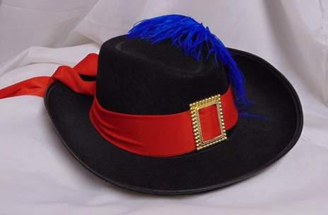 muskétás / testőr kalap - gyerek méret