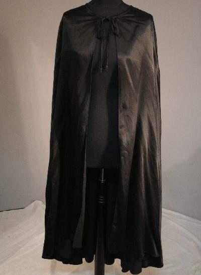 Fekete (Darth Vader / Demóna vagy Harry Potter) köpeny - 120 cm hosszú