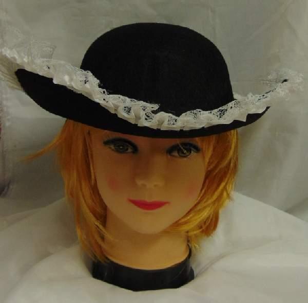 kalóz kalap - fekete csipkével