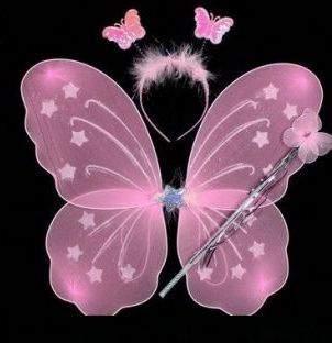 Tündér / Csingiling vagy pillangó szett - 3 részes (pink vagy rózsaszín)
