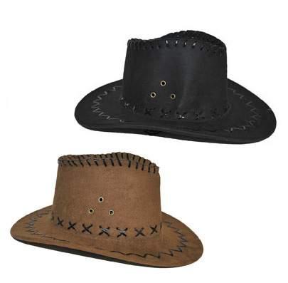 cowboy / western kalap - velúr, gyerek méret