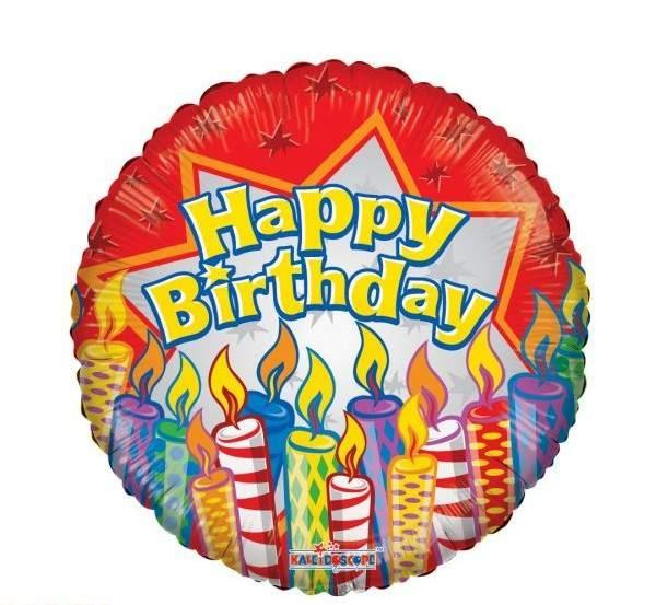 Happy Birthday feliratos fólia lufi