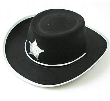 sheriff / cowboy kalap - textil (gyerek méret)