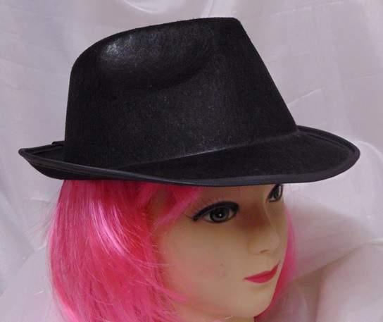 gengszter kalap -fekete, textil