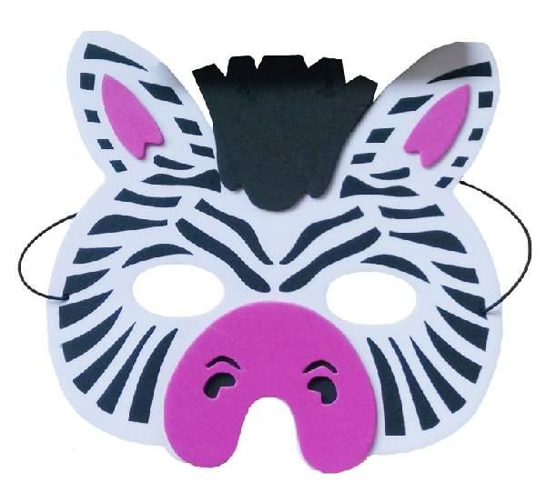 zebra álarc - polyfoam