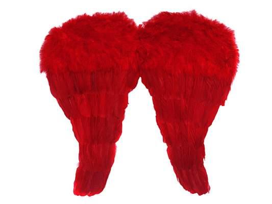 angyalszárny 50 x 46 cm, piros