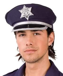 rendőr tányérsapka - állítható méretű