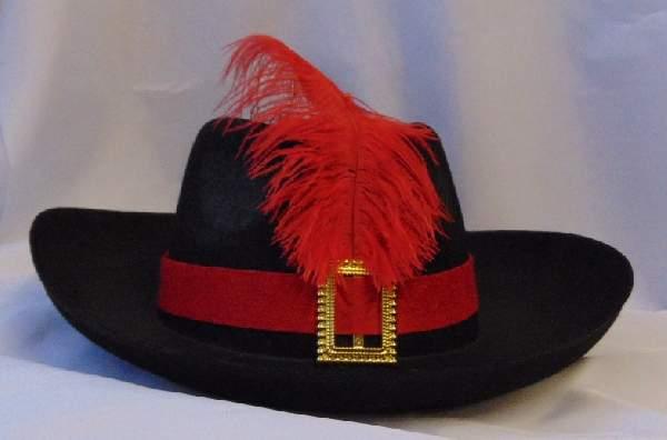 muskétás / testőr kalap