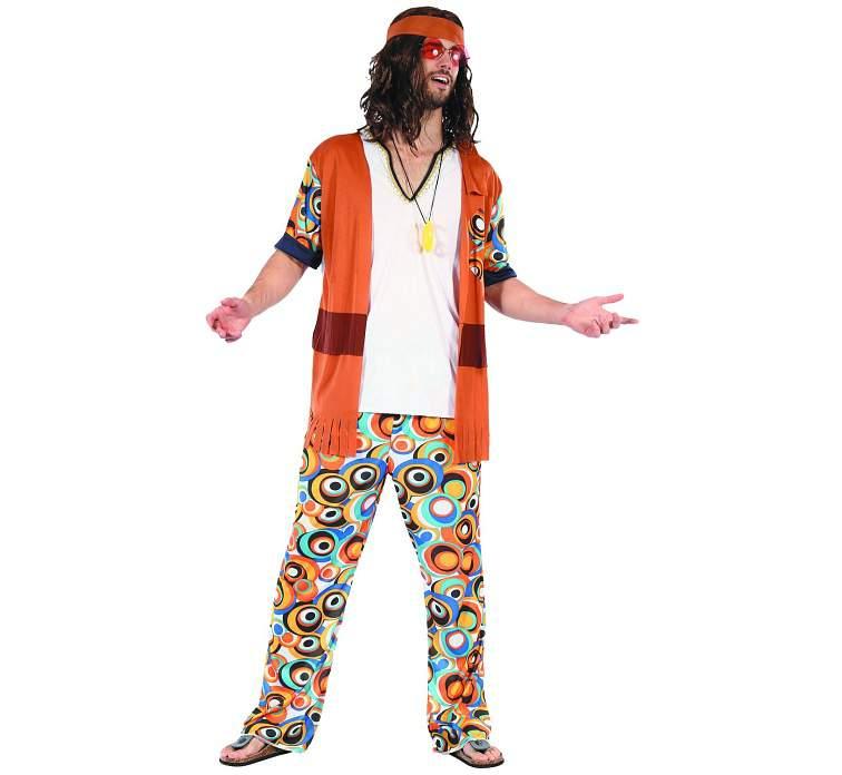 Hippie - férfi  jelmez