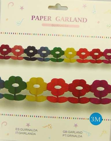 papír girland - virágos