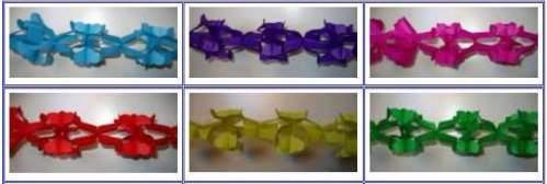 papír girland - egyszínű
