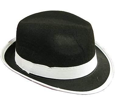 gengszter kalap - fekete