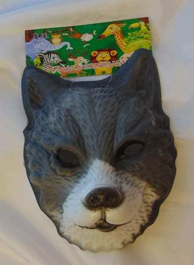 farkas álarc - polifoam (gyerek méret)