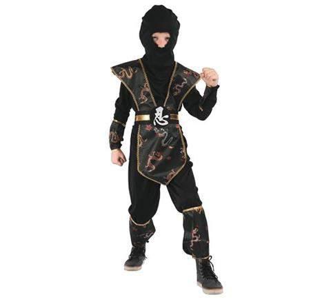 Ninja jelmez - fekete