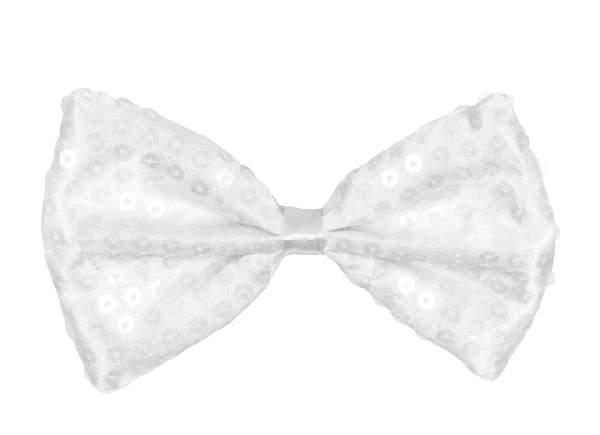 csokornyakkendő - fehér flitteres