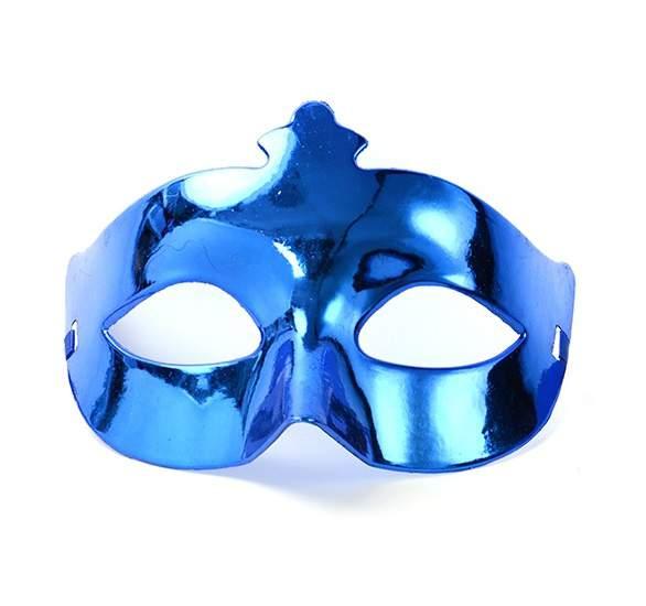 egyszínű álarc - kék