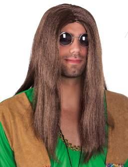 hippie paróka - hosszú barna