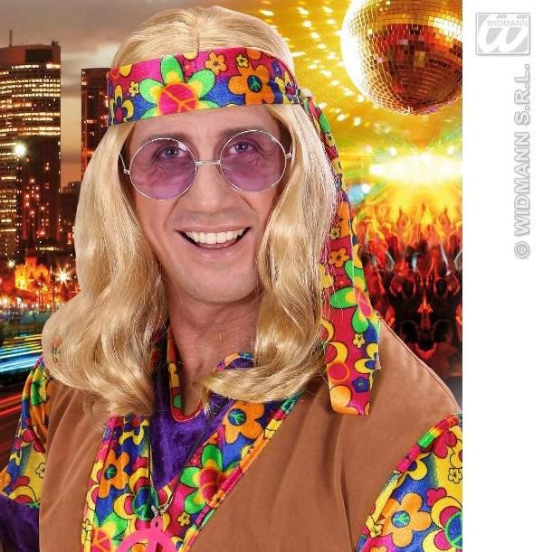 hippie paróka - hosszú szőke