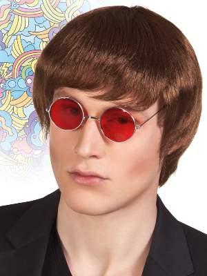 rövid barna - John Lennon paróka