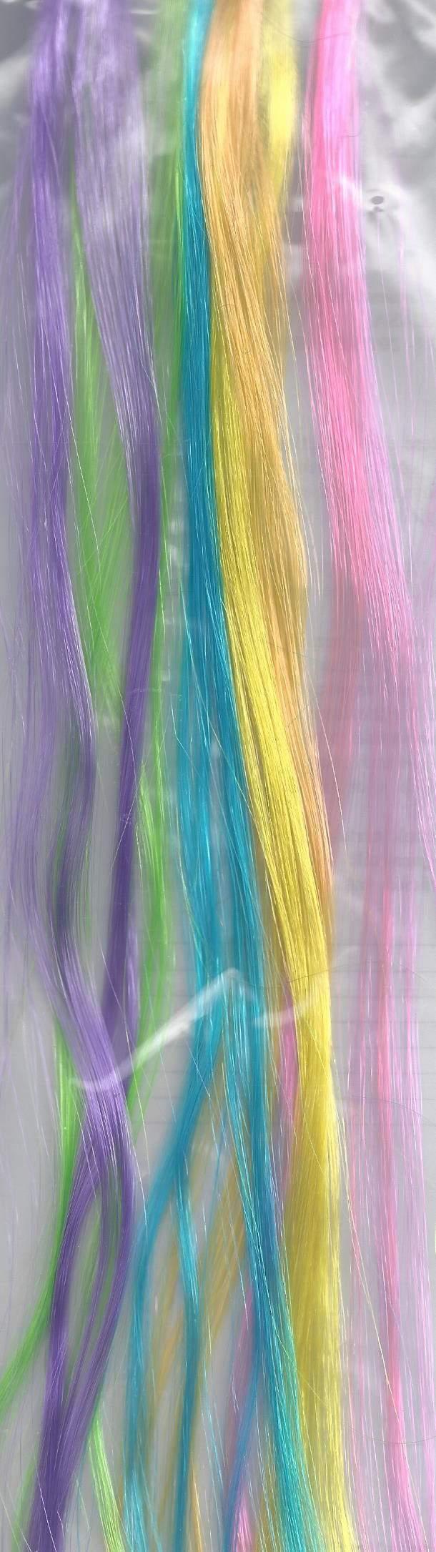 hajdísz - csatos, színes hajtincs fesztiválkellék