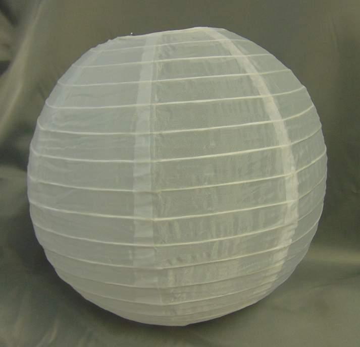 lampion gömb - fehér, organza