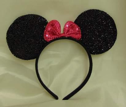 Minnie egérke fül - flitteres