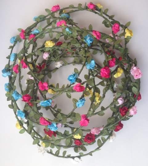 hajdísz - koszorú / apró virágos fesztiválkellék