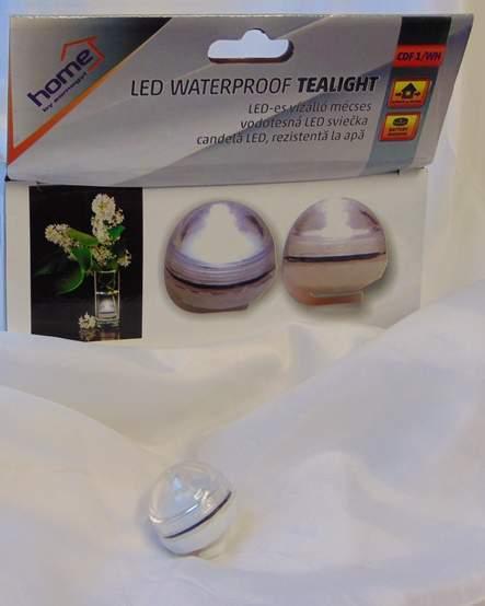 Vízálló mécses - LED (12 db/doboz)