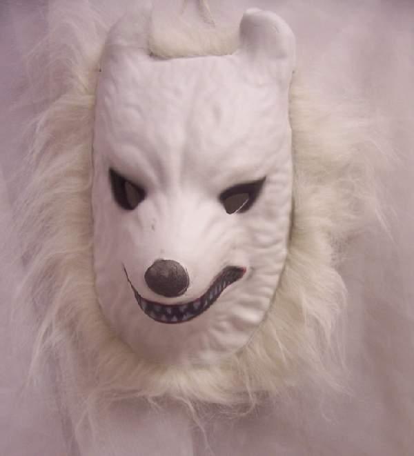 Fehér farkas maszk, szörzettel
