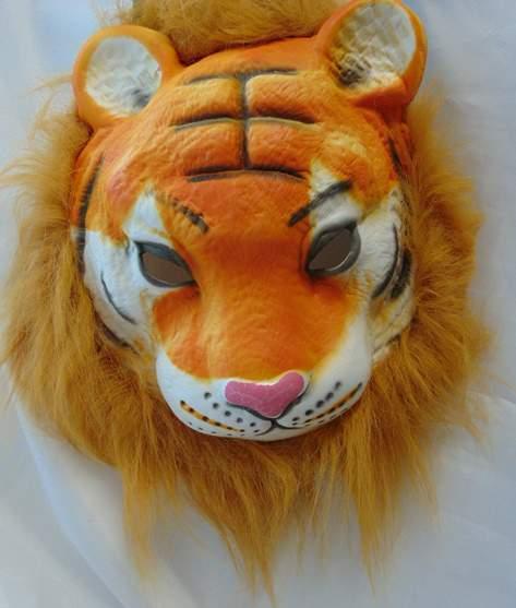 Tigris maszk, szörzettel