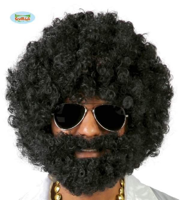 afro paróka és szakáll